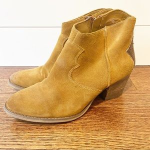 Marc Fisher | Leather Ankle side zip booties 8.5